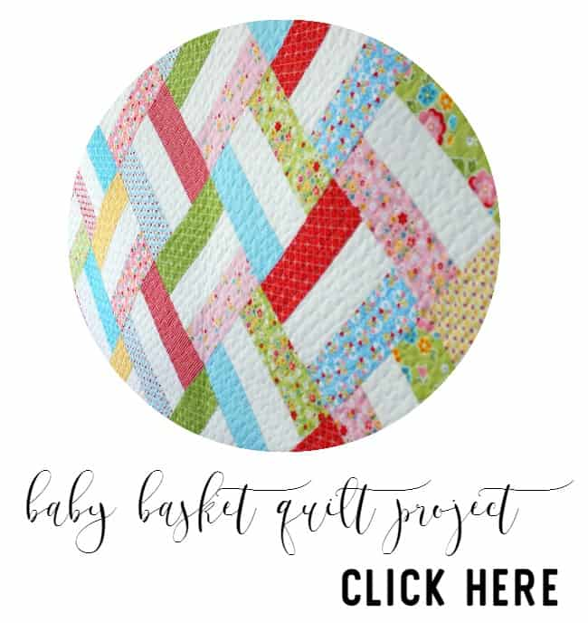 baby basket quilt project