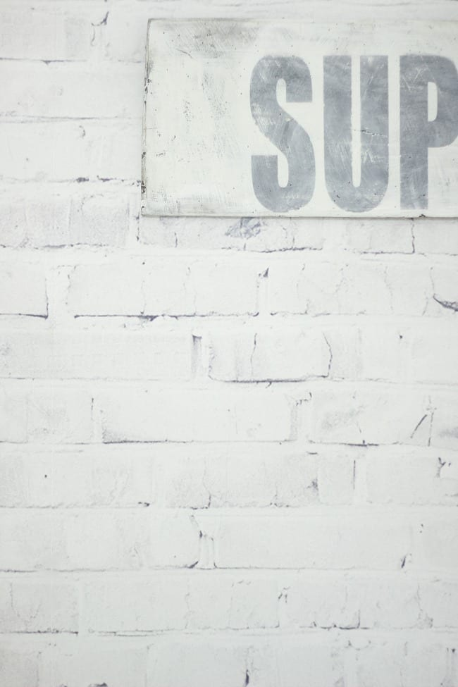 brick wall faux