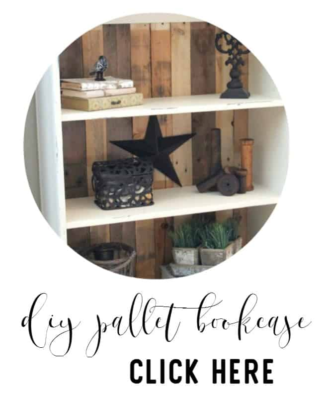 diy pallet bookcase project