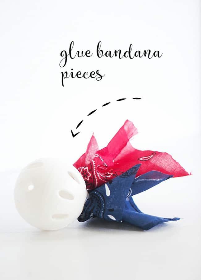 glue bandana pieces