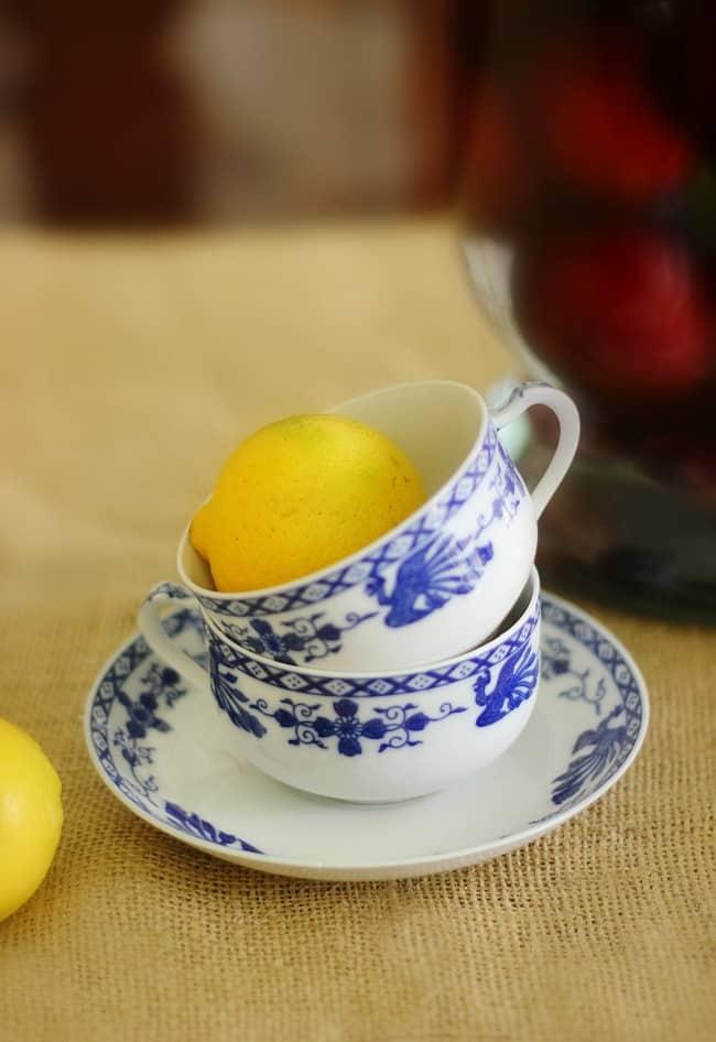 lemons and teacup