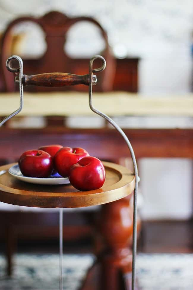 plums and summer decorating