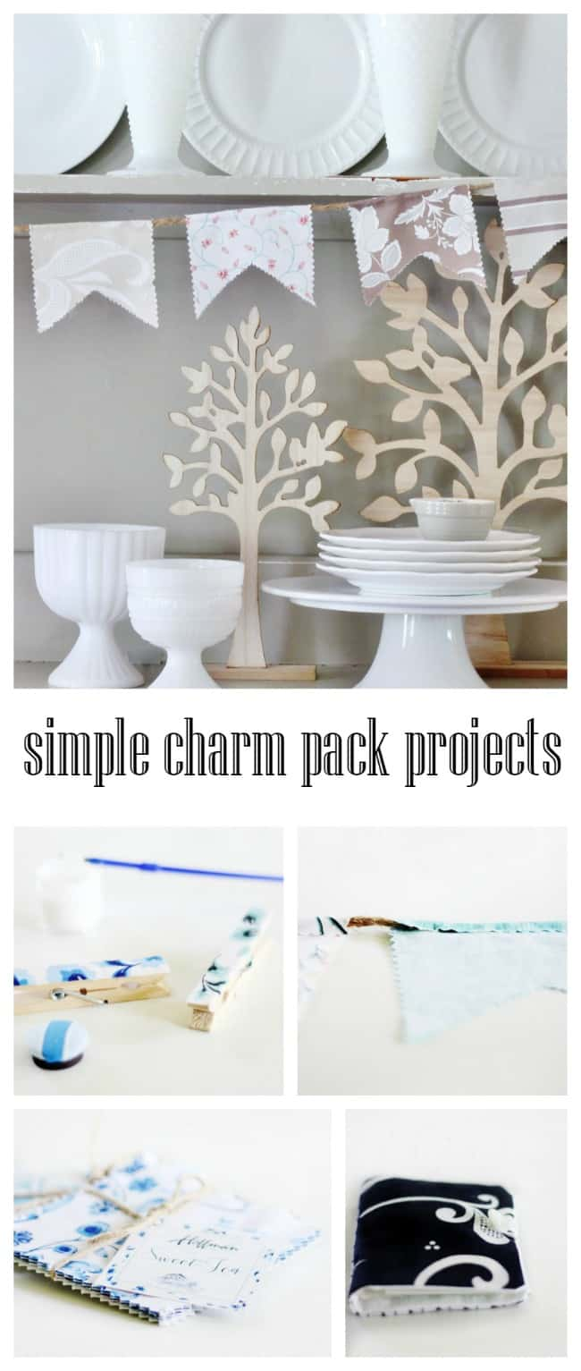 Simple DIY charm pack projects for your home