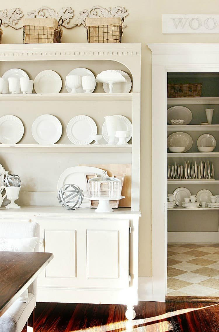 This hutch is a key element of the kitchen and dining space
