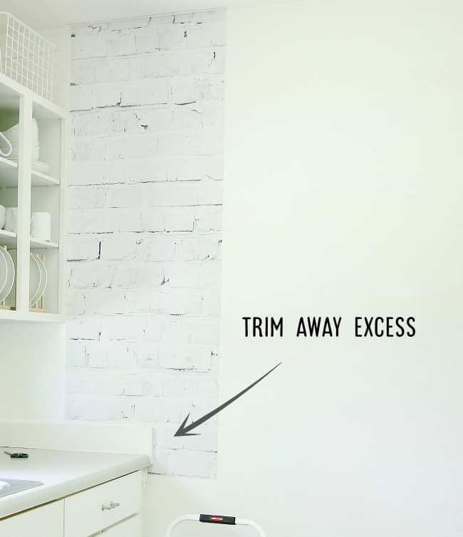 Trim away any excess you have