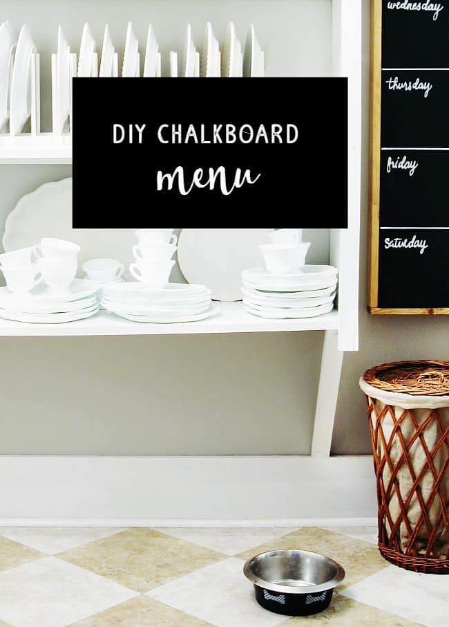 Here's how to make your own chalkboard menu for your home