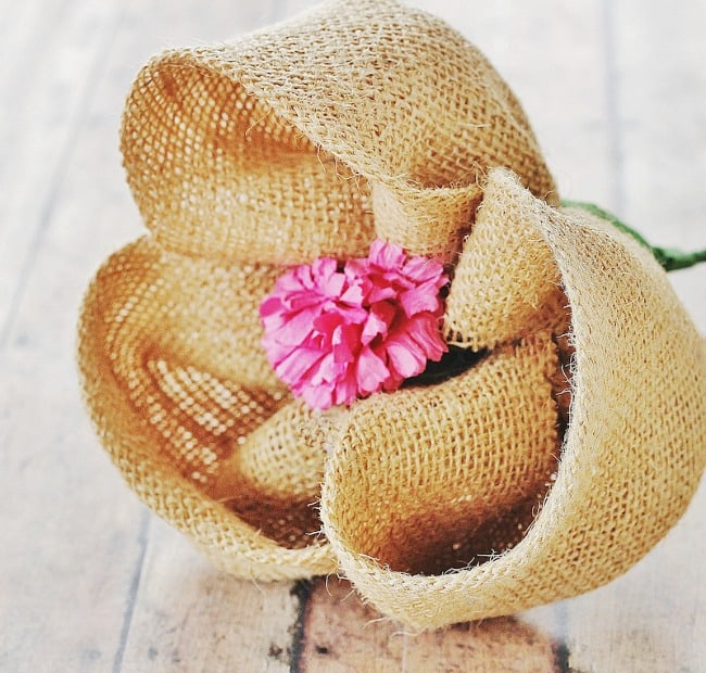 How to make a burlap flower