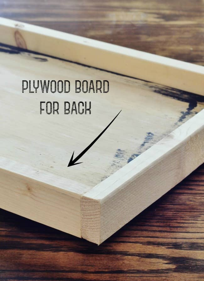 Use a piece of plywood for the back