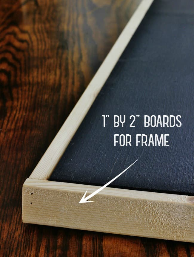 "Use 1"" x 2"" boards to frame it"