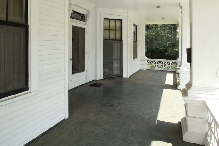 Southern Romance Front Porch Before