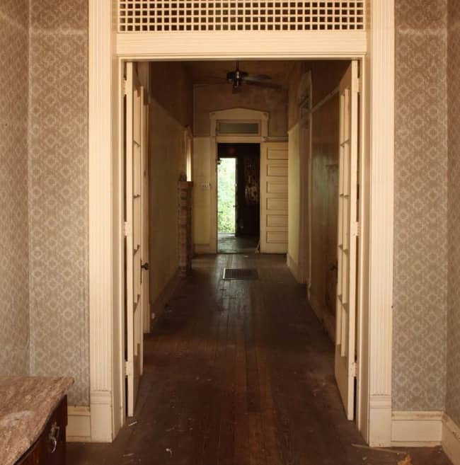 Southern Romance House Hallway before