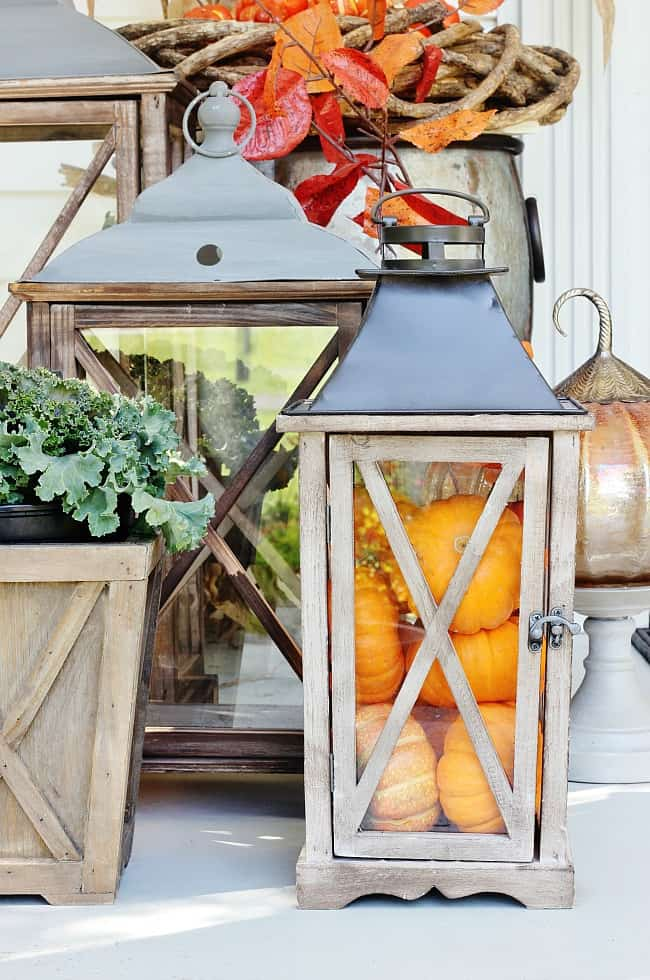 fall decor to Christmas lanterns