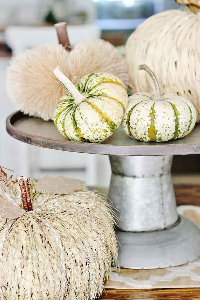 fall decor to Christmas pumpkins