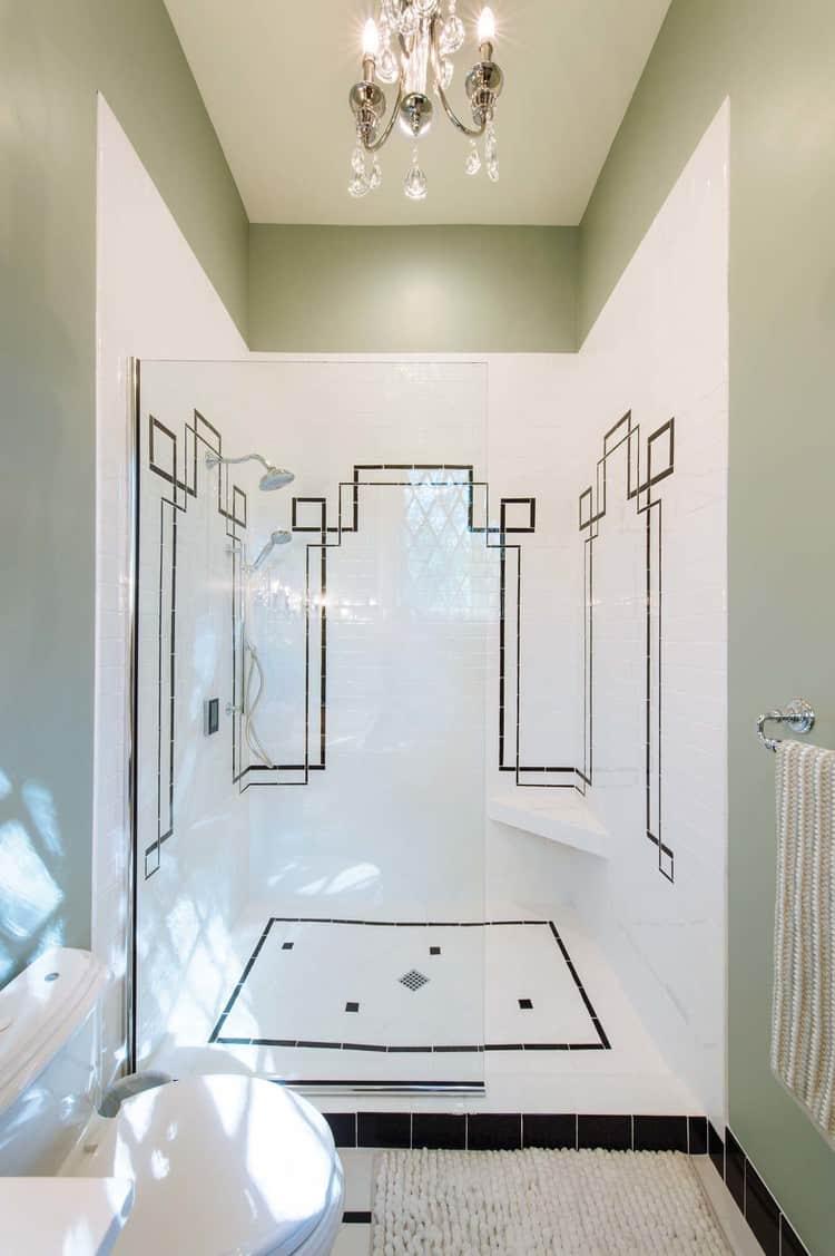 Shower in master bathroom after