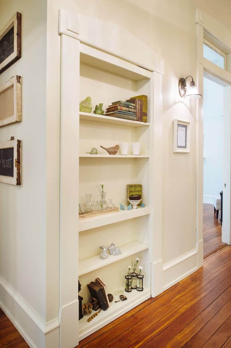 Front hallway- bookcase or not?