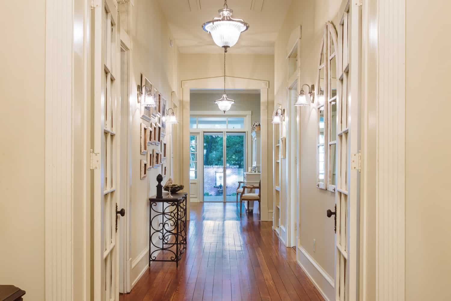 southern romance house front hall after