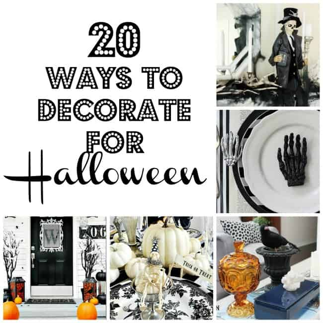 20 ways to decorate - Ways To Decorate For Halloween