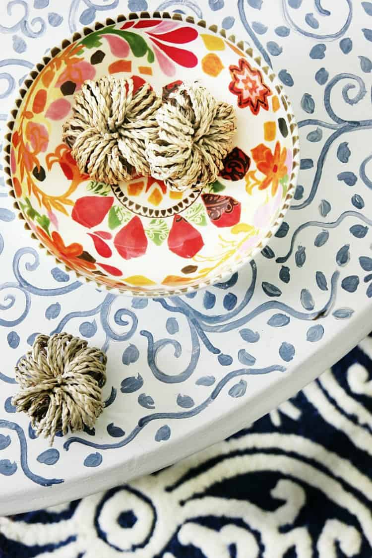 blue and white simple 10-minute fall decorating ideas