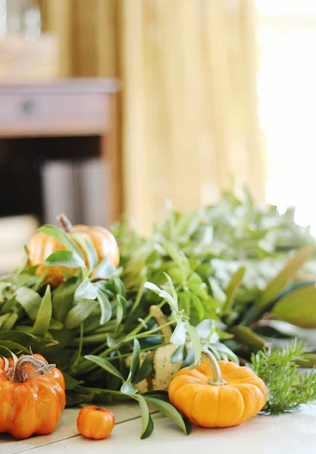 Mini pumpkins make great additions to fall DIY centerpieces.