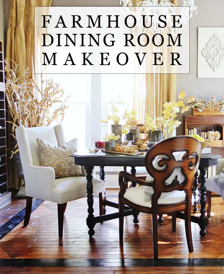Farmhouse dining room makeover.