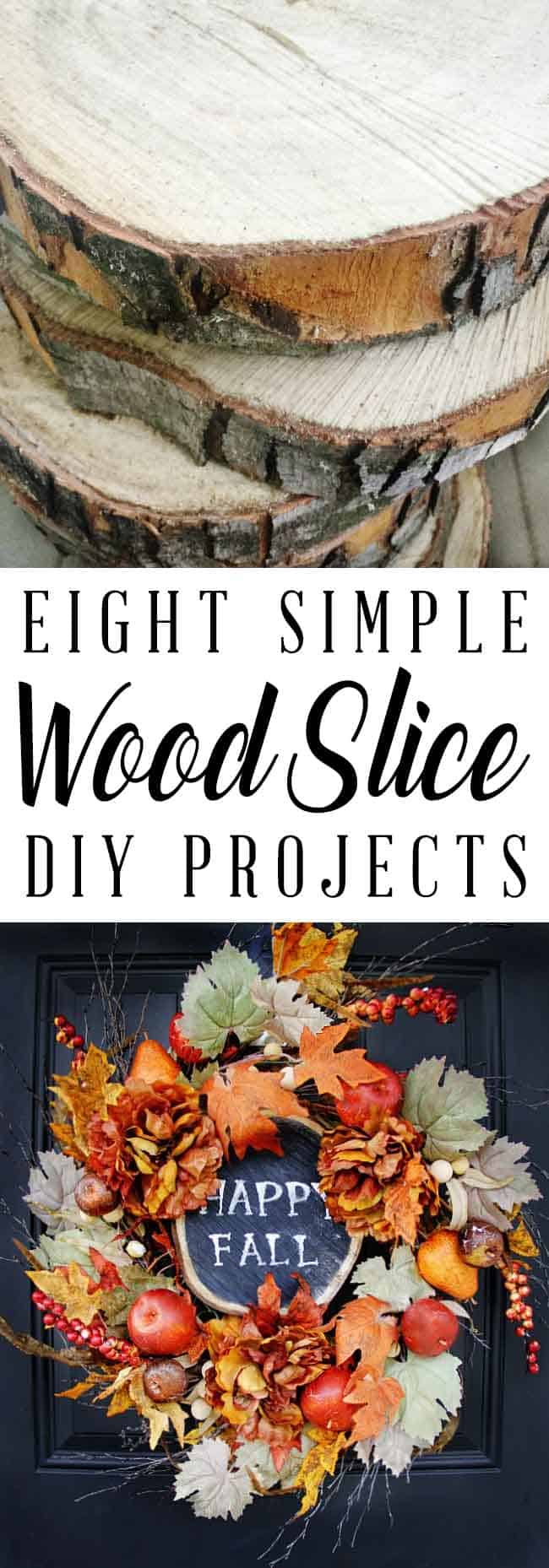 Eight simple wood slice DIY projects