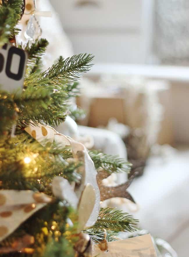 christmas-tree-branches handmade ornaments