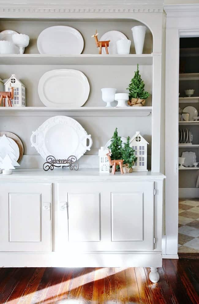 This amazing hutch has become my favorite piece and transforms over and over for the holidays