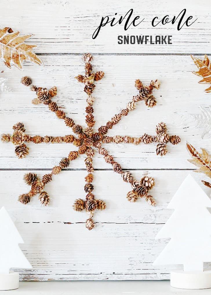pine cone snowflake