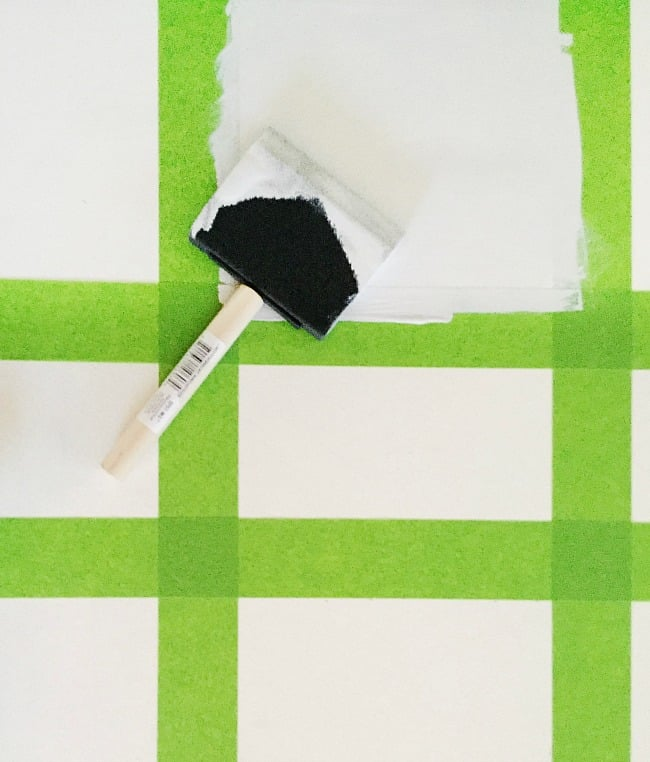 Paint every other square with your contrasting paint