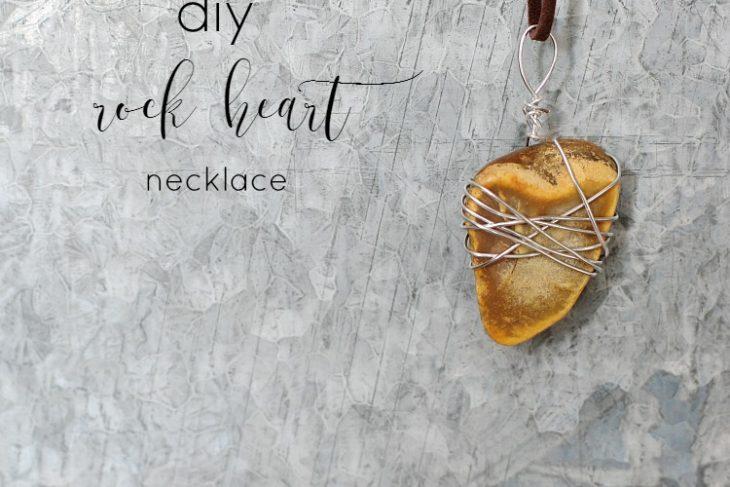 DIY Rock Heart Necklace