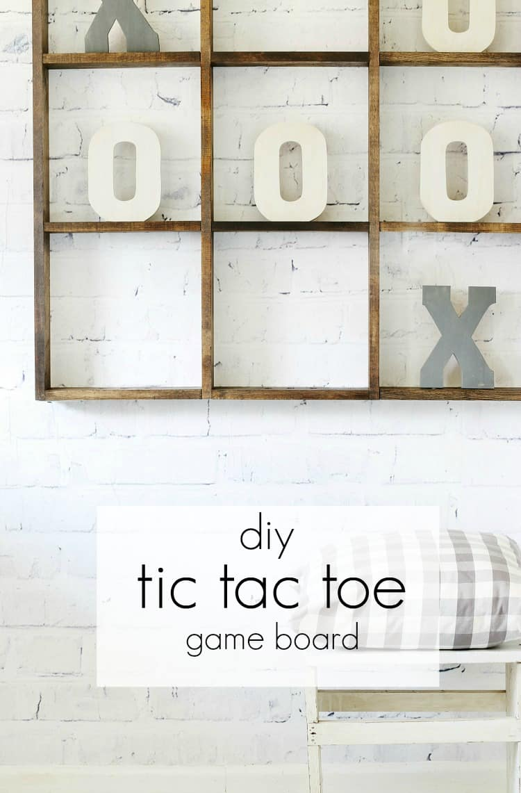 Here's how to build your own DIY tic tac toe game board