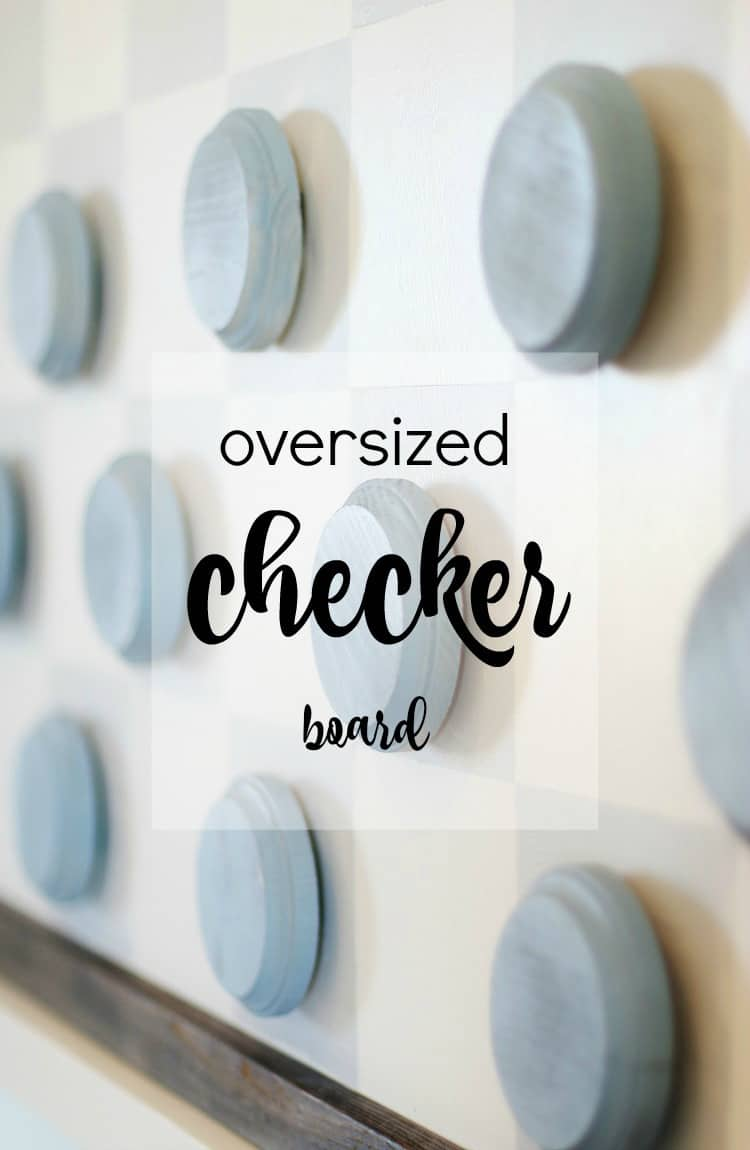 How to make an oversize checker board