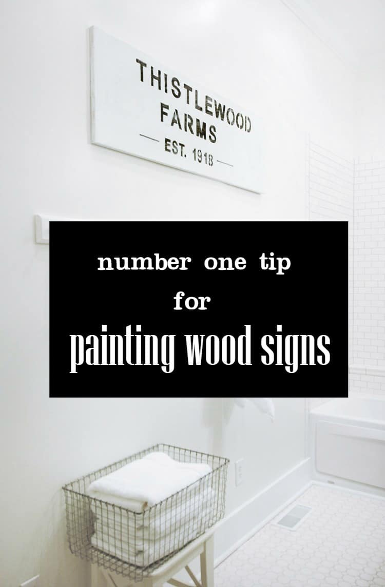 Use these tips for painting wood signs.