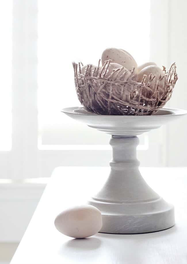 DIY jute twine nest