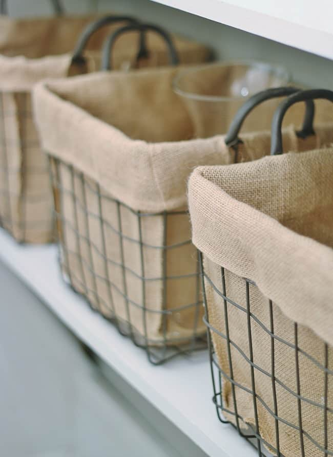 declutter your home baskets