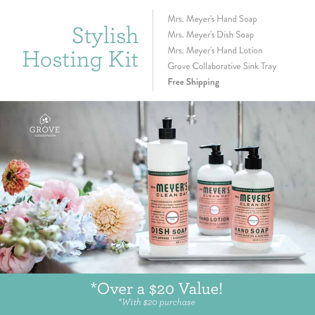 Stylish Hosting Kit special at Grove Collaborative