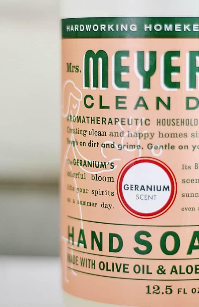 Mrs. Meyer's Geranium scented soaps are amazing.