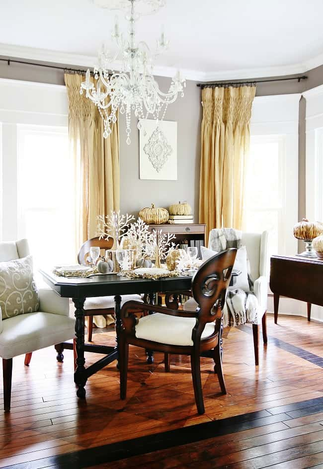 The dining room can be spruced up with these elegant accent pieces for fall