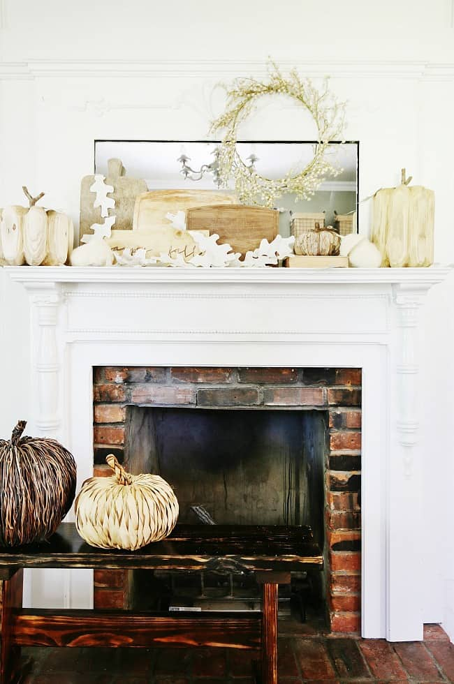 How To Decorate A Fall Mantel Thistlewood Farms