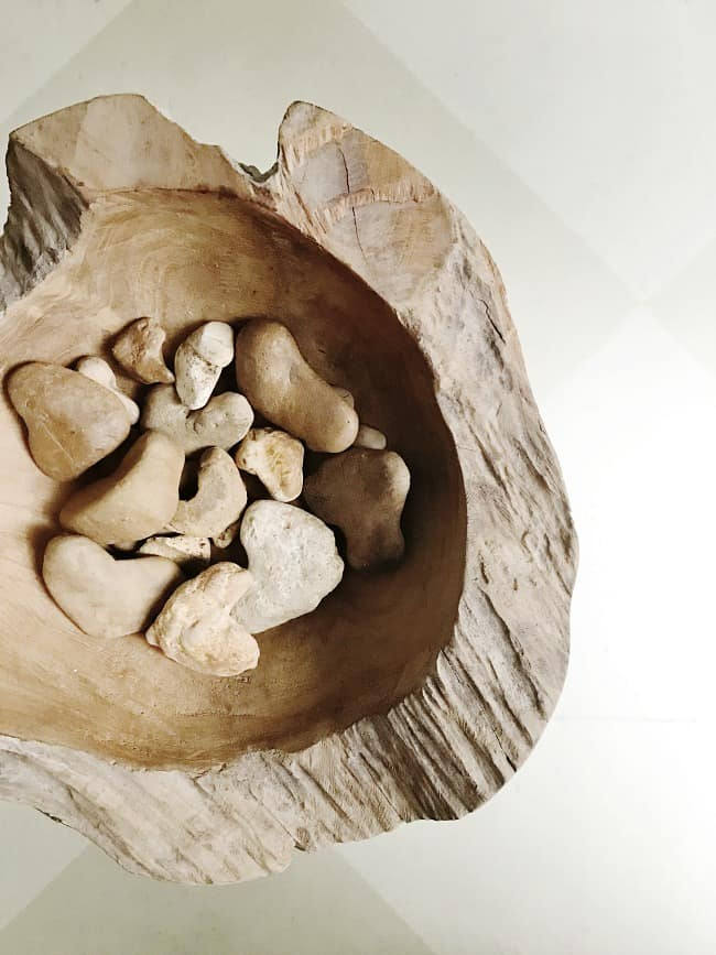 This natural wood bowl is a great piece for your home