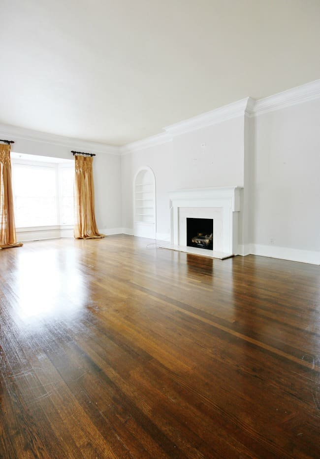 Preparing to move, and a peek at the living room without decor