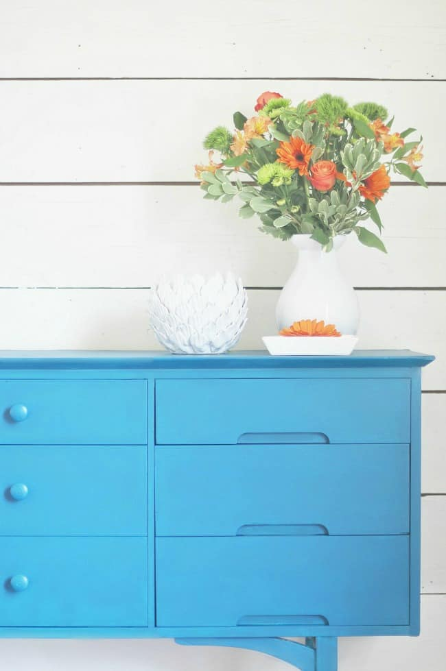 The newly revamped dresser- just add paint!