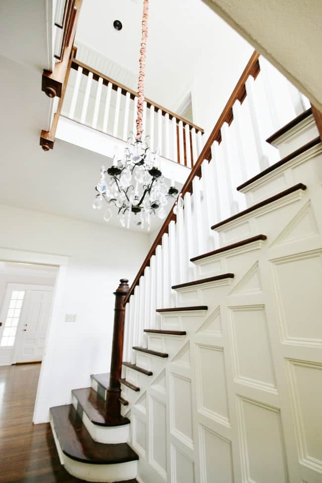 Here's a look at the foyer of our home- love the staircase