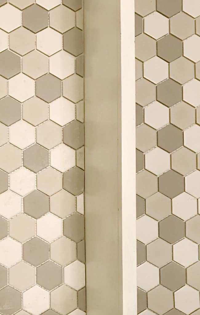 The smaller tile for this project creates more visual interest.