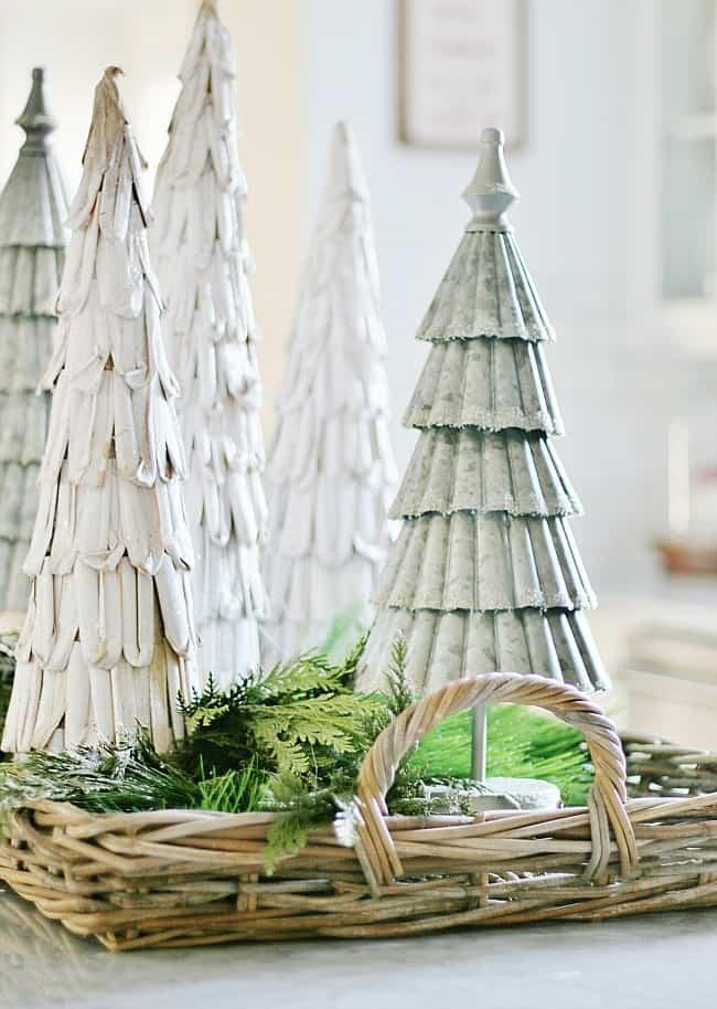 fall decor to Christmas trees