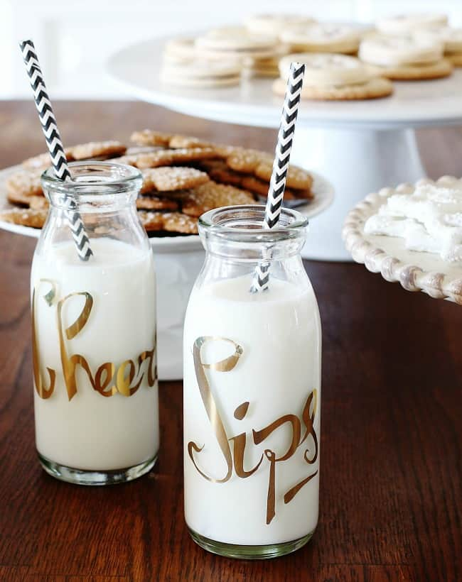 Holiday milk and cookies