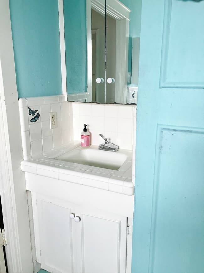 And another look at the bathroom before we remodeled.