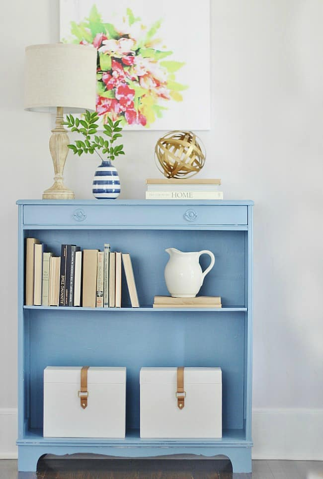 Here's a look at this beautiful bookshelf painted