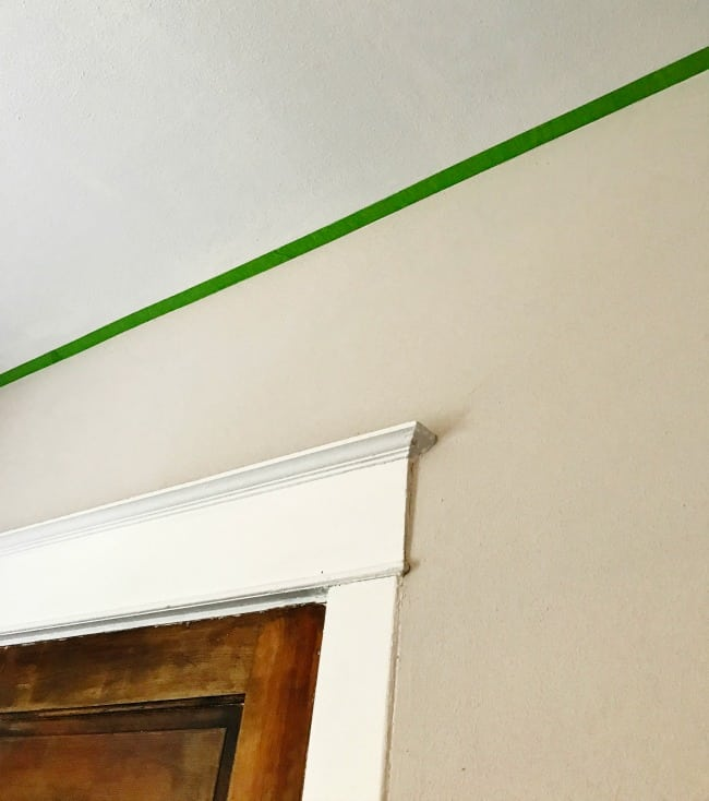 Frog tape successfully blocking off the ceiling
