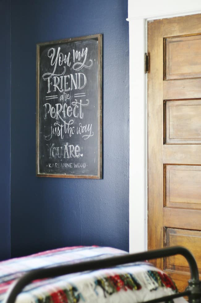 You are perfect wall art bedroom inspiration quote